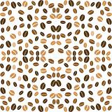 coffee background seamless with many beans