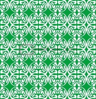old Seamless damask green wallpaper
