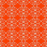 Seamless background Floral Pattern orange flow