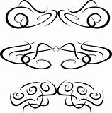 Tribal Artwork tattoo Collection element isolated on white