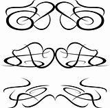 set of tattoo design element isolated on white
