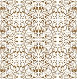 Seamless Wallpaper with floral ornament with leafs and flowers