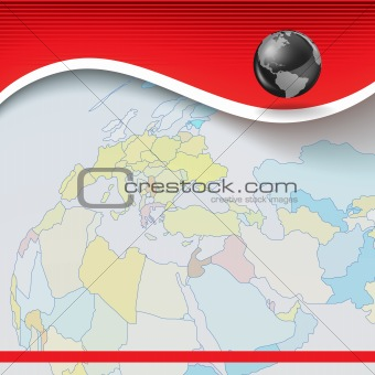 Abstract business background with earth map