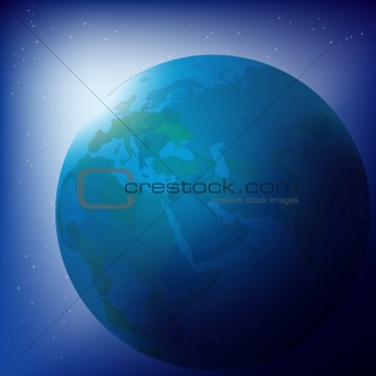 Abstract business background globe