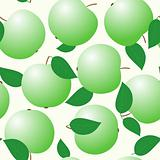Abstract backgrounds with green apples