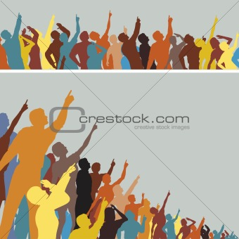 Pointing crowds