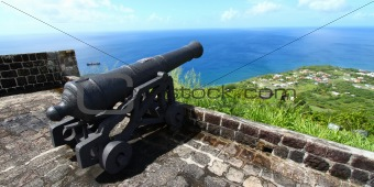 Cannon at Brimstone Hill - Saint Kitts