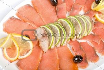 Fish set closeup