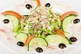 Salad of tuna fish