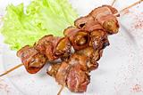 Kebab from chicken liver