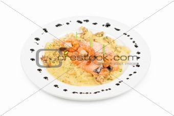 Salmon fish and seafood