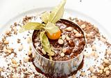 Chocolate risotto dessert