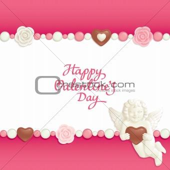 Valentine candy background