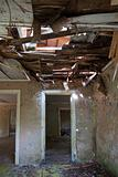 destroyed building interior