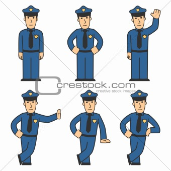 Police character set 01