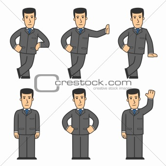 Businessman character set 01