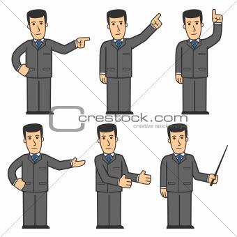 Businessman character set 03