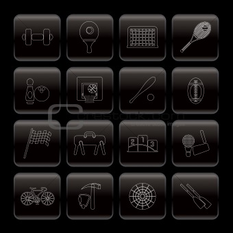 Line Sports gear and tools icons