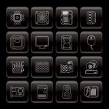 Line Computer  Performance and Equipment Icons
