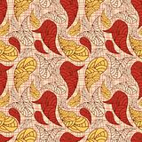 vector seamless paisley background with stripes