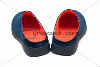 Pair baby footwear with orange insole