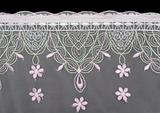 Lace decorated by pattern and decorative rose