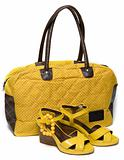 Yellow lady bag and yellow sandals