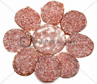 Sausage slice put by pattern