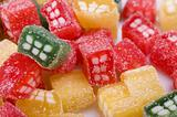 background of delicious sweet candies in sugar