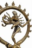Statue of indian hindu god dancing Shiva Nataraja. fragment.