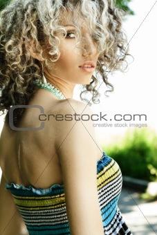 Attractive woman outdoor portrait