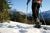 Great snowshoe hiking