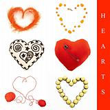 Heart shapes set