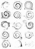 Collection of vector swirl elements