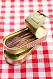 anchovies fillets in tin can
