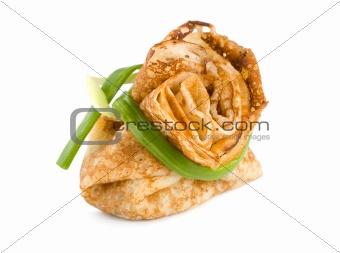 One stuffed pancake