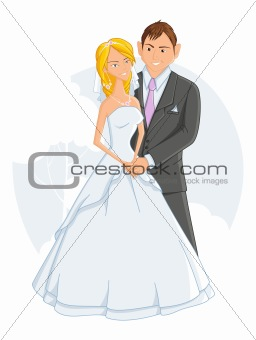 wedding, vector illustration