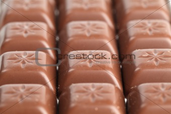 Milk chocolate pralines