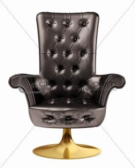 Black office chair 3d