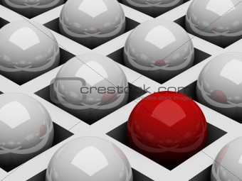 Abstract background with balls