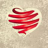 Heart made of ribbon