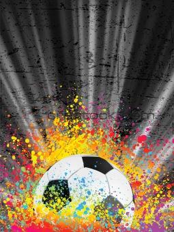Football poster light burst. EPS 8