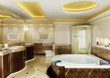 rendering of the modern bathroom interior