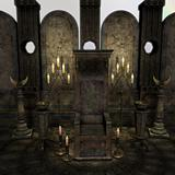 archaic altar in a fantasy setting