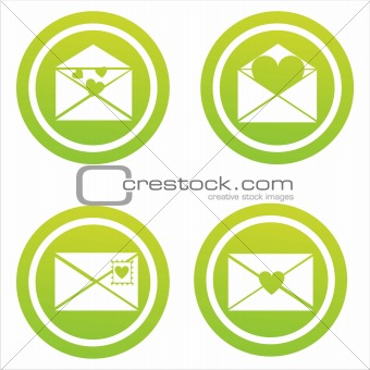green love letters signs