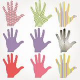 Abstract hands. Vector