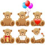 teddy bear icon set