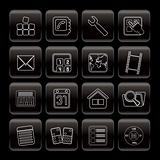 Line Mobile Phone and Computer icon - Vector Icon Set