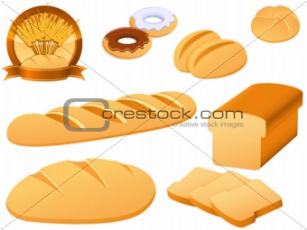 bakery icon set