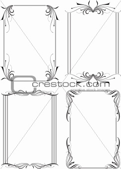 Abstract Floral Frame Set